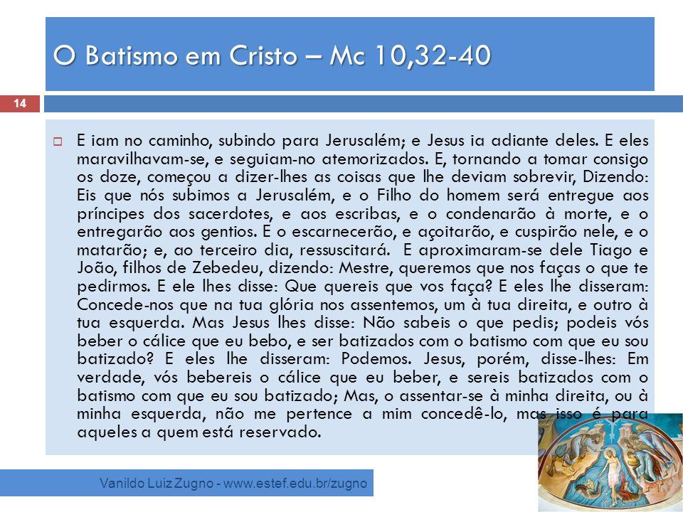 O Batismo em Cristo – Mc 10,32-40
