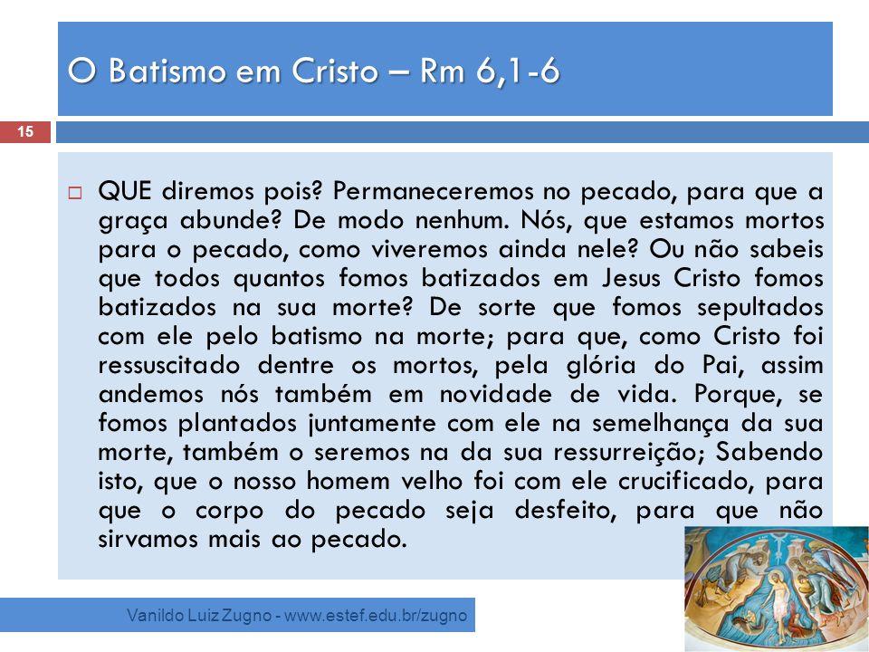 O Batismo em Cristo – Rm 6,1-6