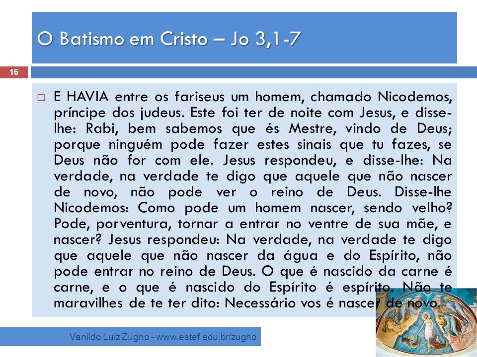 O Batismo em Cristo – Jo 3,1-7
