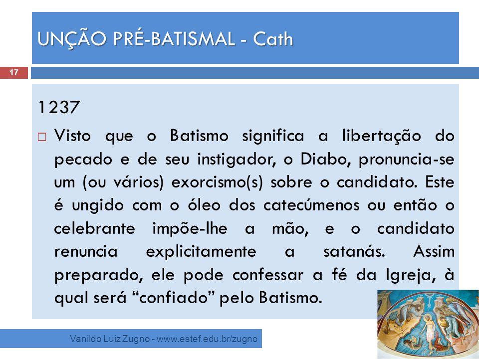 UNÇÃO PRÉ-BATISMAL - Cath