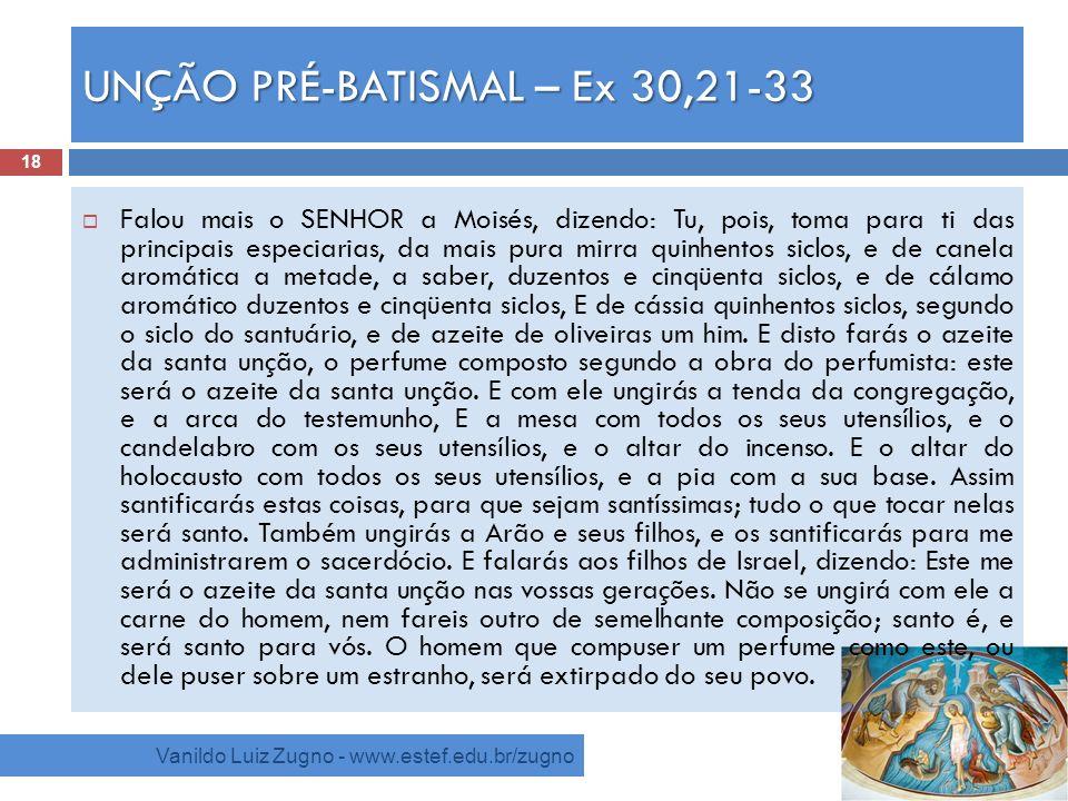 UNÇÃO PRÉ-BATISMAL – Ex 30,21-33