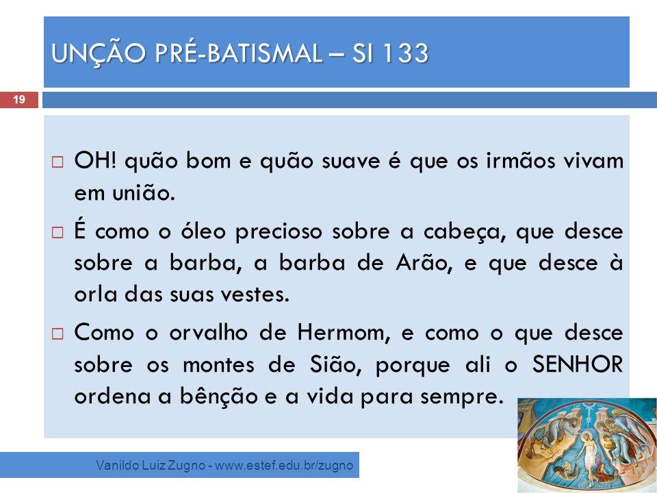 UNÇÃO PRÉ-BATISMAL – Sl 133