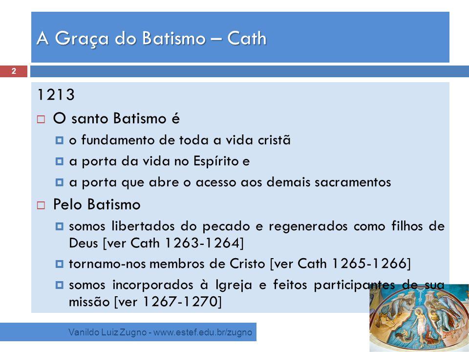 A Graça do Batismo – Cath