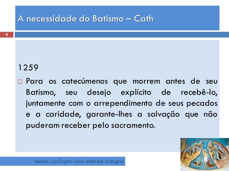 A necessidade do Batismo – Cath