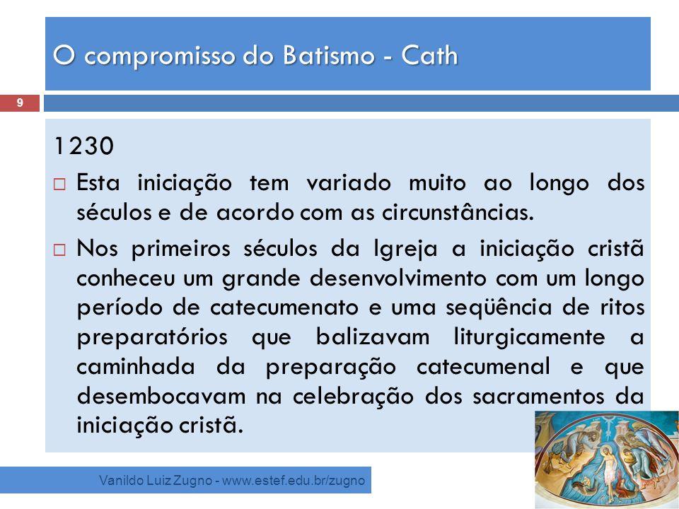 O compromisso do Batismo - Cath
