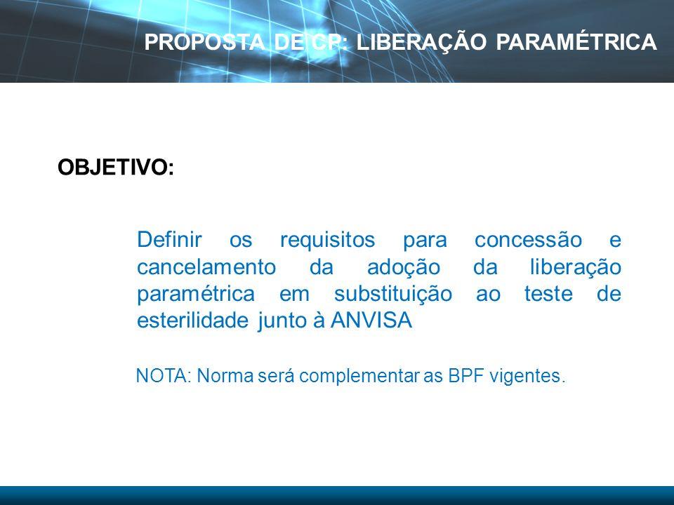 PROPOSTA DE CP: LIBERAÇÃO PARAMÉTRICA