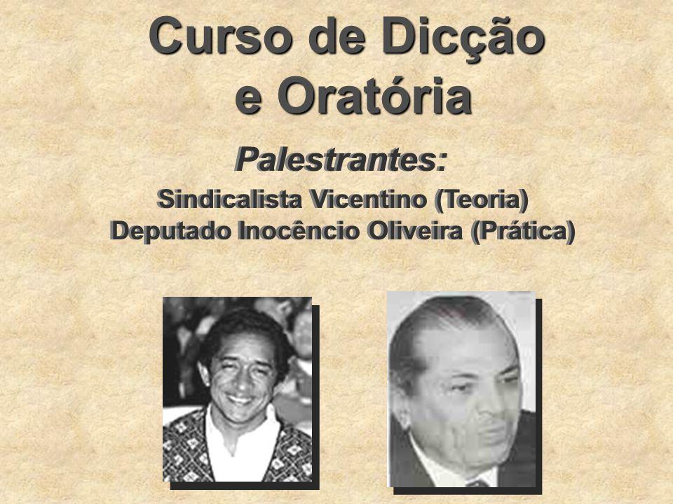 Sindicalista Vicentino (Teoria) Deputado Inocêncio Oliveira (Prática)
