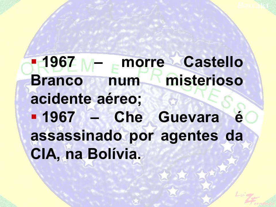 1967 – morre Castello Branco num misterioso acidente aéreo;