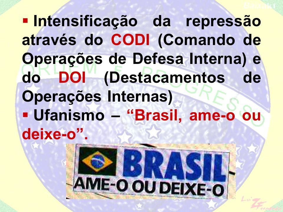 Intensificação da repressão através do CODI (Comando de Operações de Defesa Interna) e do DOI (Destacamentos de Operações Internas)