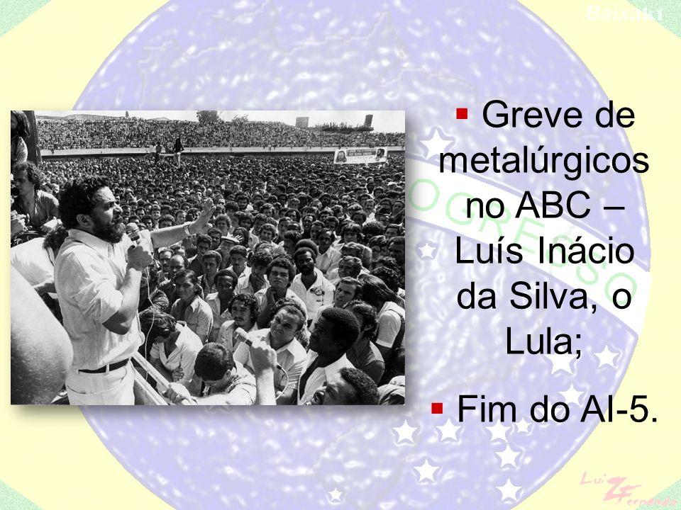 Greve de metalúrgicos no ABC – Luís Inácio da Silva, o Lula;