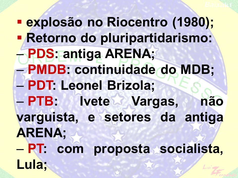 explosão no Riocentro (1980);