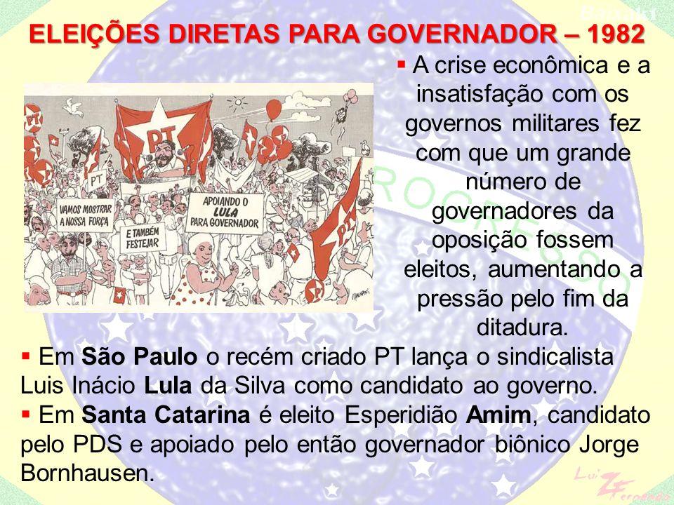 ELEIÇÕES DIRETAS PARA GOVERNADOR – 1982