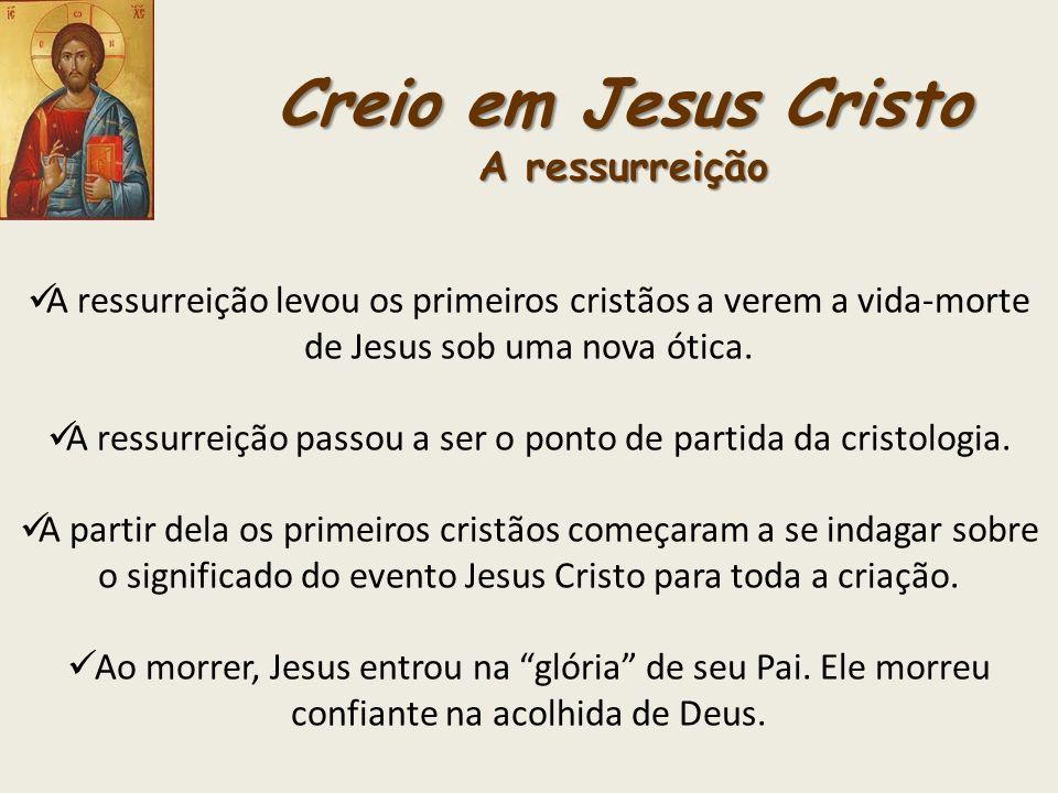 Creio em Jesus Cristo A ressurreição
