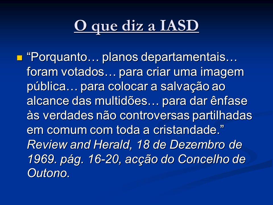 O que diz a IASD