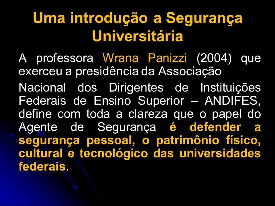 Uma introdução a Segurança Universitária