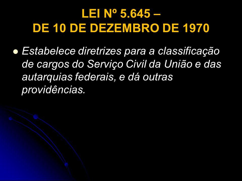 LEI Nº 5.645 – DE 10 DE DEZEMBRO DE 1970