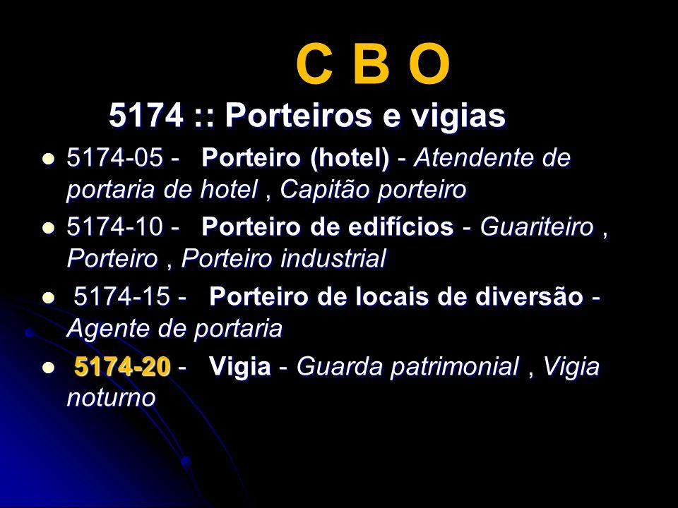 C B O 5174 :: Porteiros e vigias