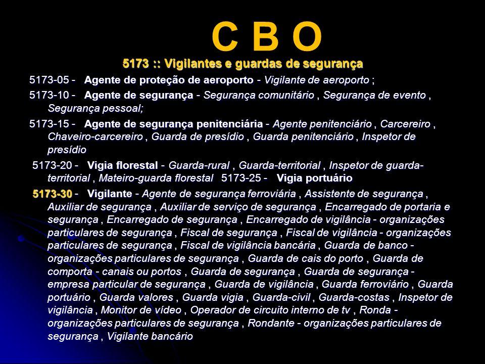 5173 :: Vigilantes e guardas de segurança