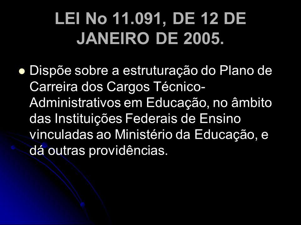 LEI No 11.091, DE 12 DE JANEIRO DE 2005.