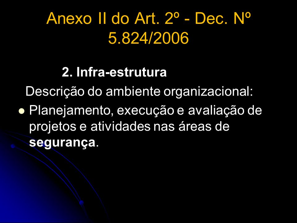 Anexo II do Art. 2º - Dec. Nº 5.824/2006