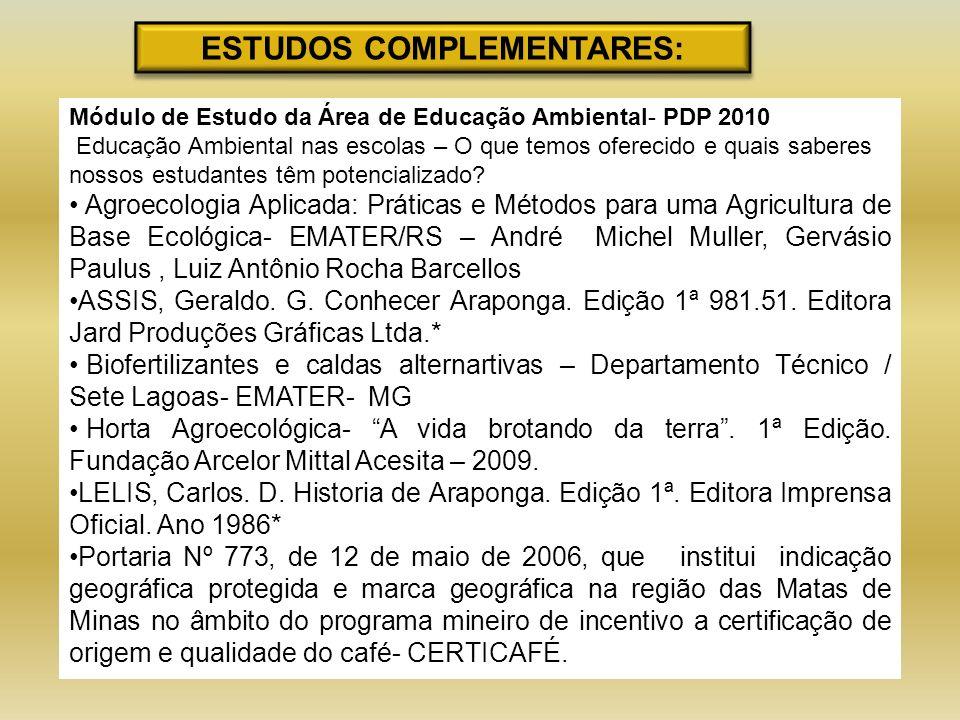 ESTUDOS COMPLEMENTARES: