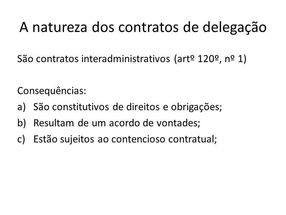A natureza dos contratos de delegação