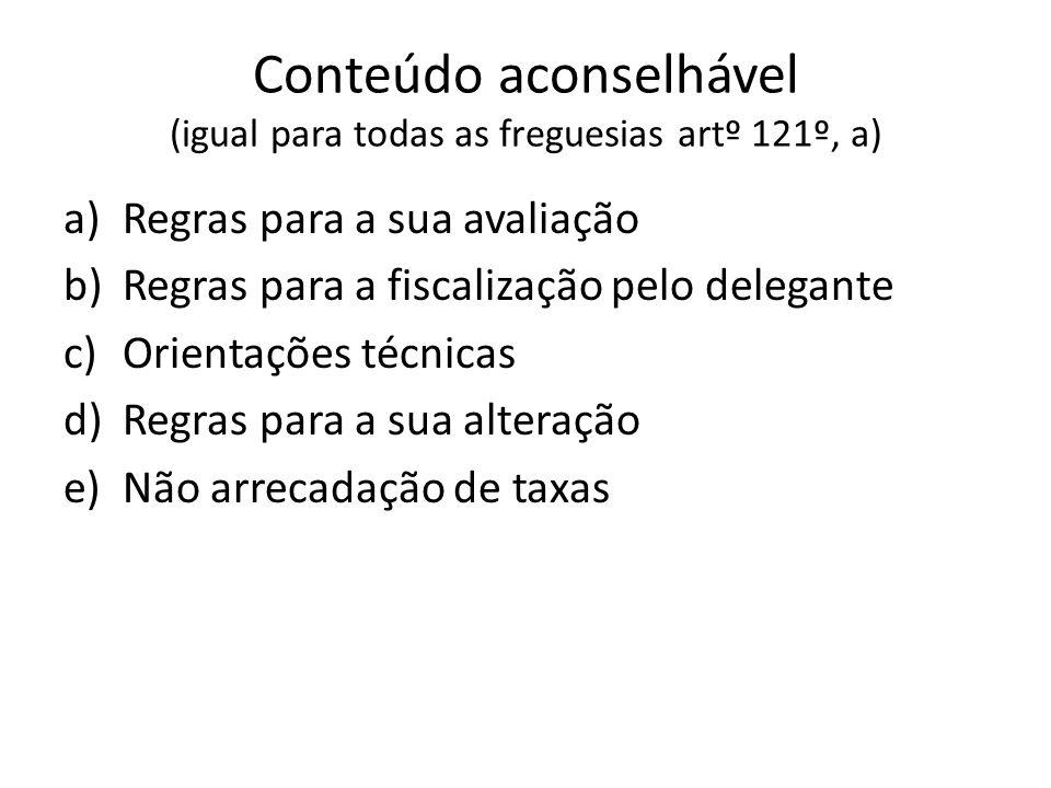 Conteúdo aconselhável (igual para todas as freguesias artº 121º, a)