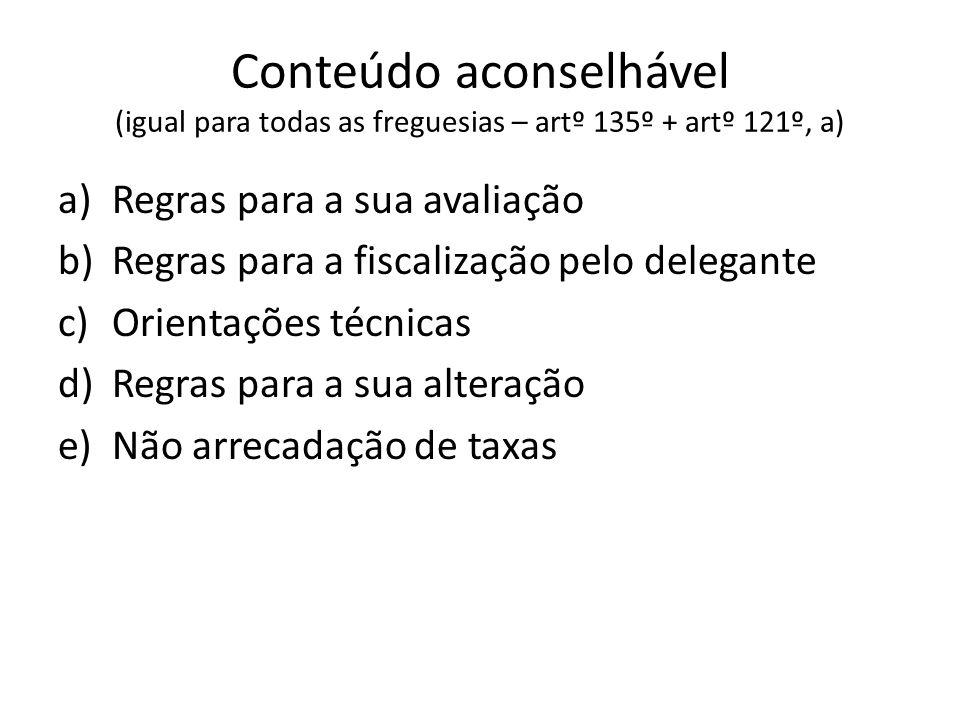 Conteúdo aconselhável (igual para todas as freguesias – artº 135º + artº 121º, a)