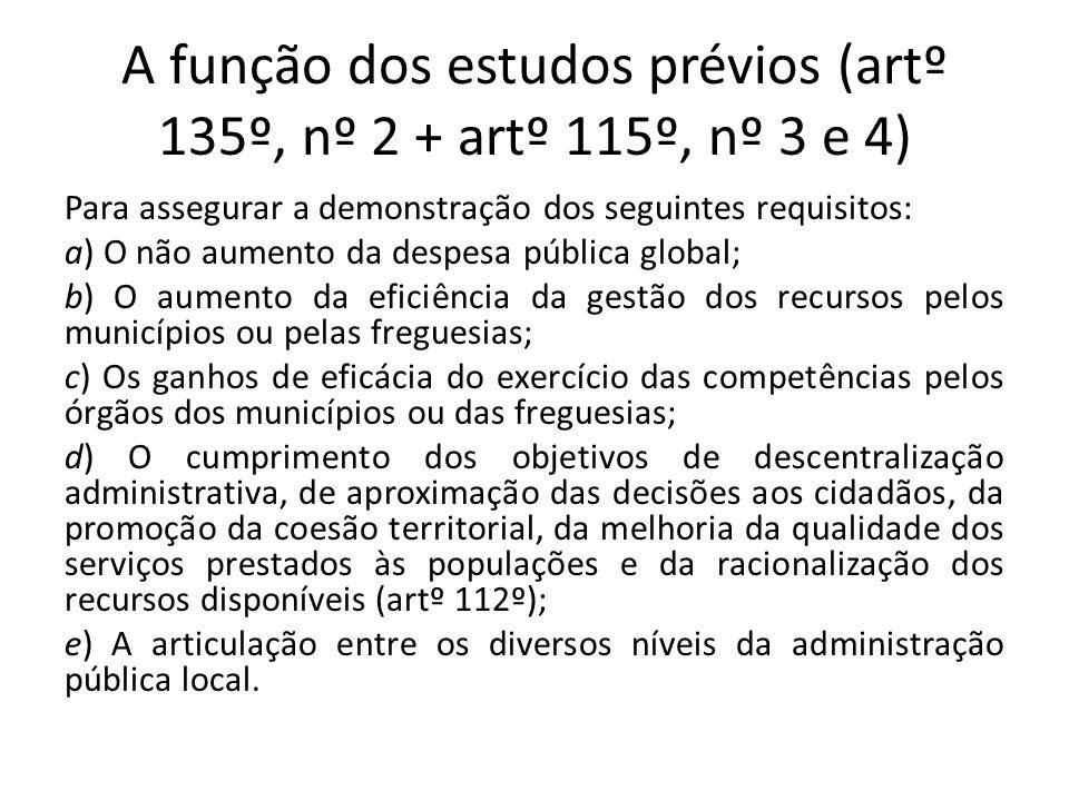 A função dos estudos prévios (artº 135º, nº 2 + artº 115º, nº 3 e 4)