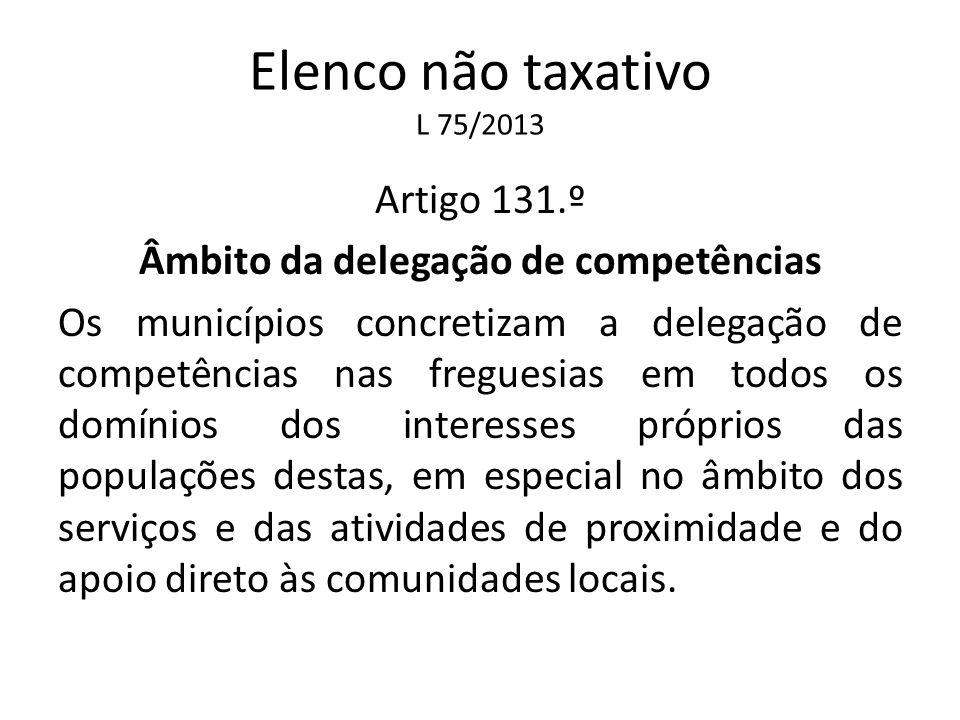 Elenco não taxativo L 75/2013