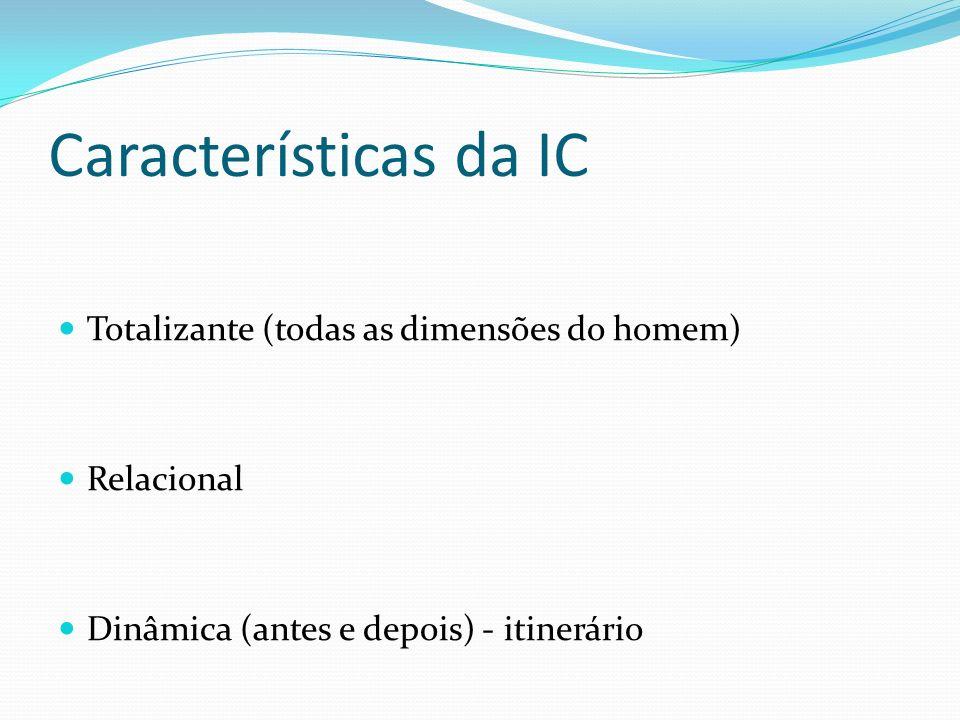 Características da IC Totalizante (todas as dimensões do homem)