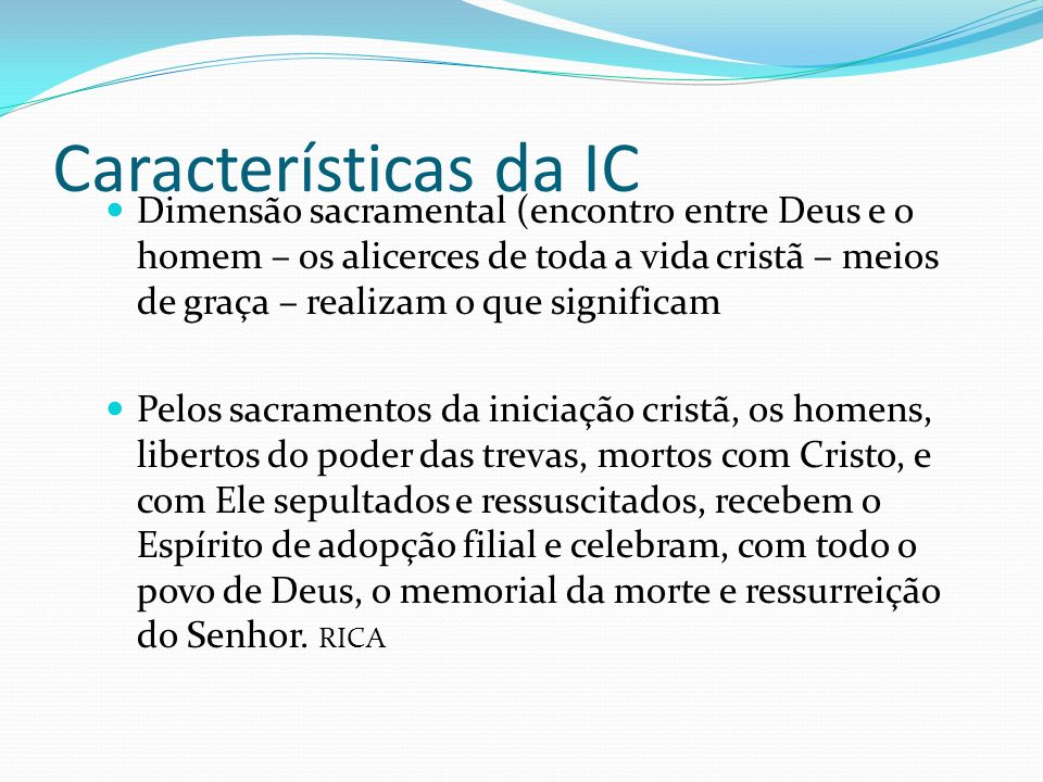 Características da IC