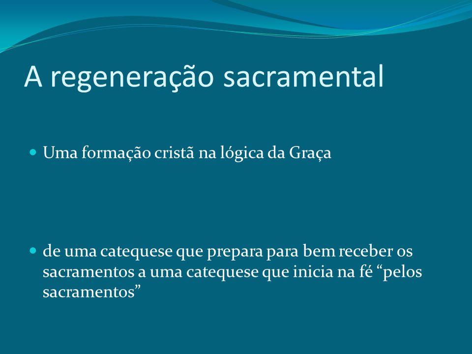 A regeneração sacramental