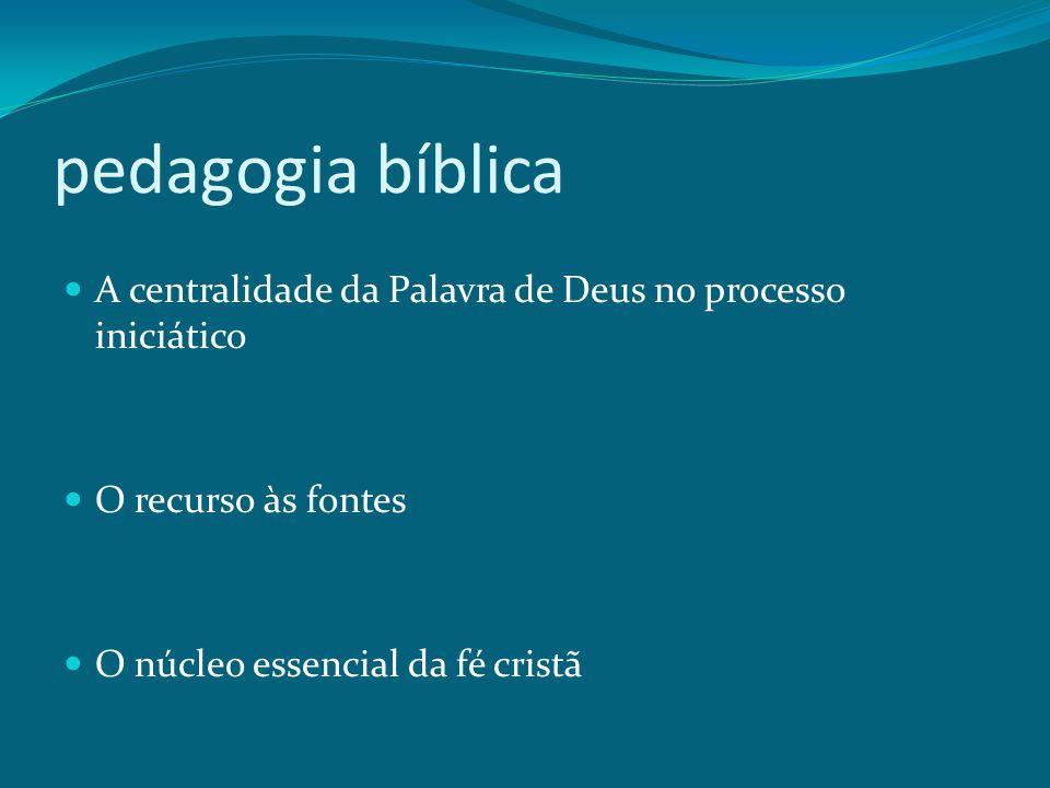 pedagogia bíblica A centralidade da Palavra de Deus no processo iniciático.