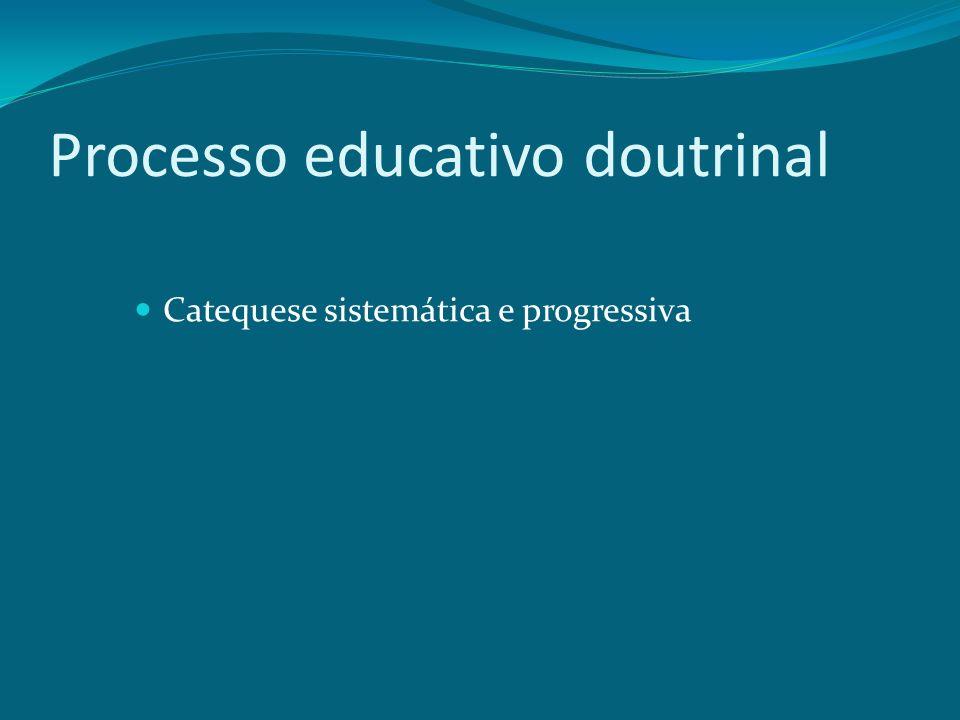Processo educativo doutrinal