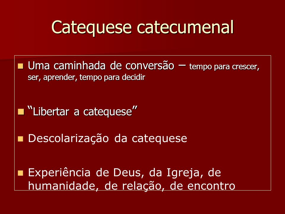 Catequese catecumenal