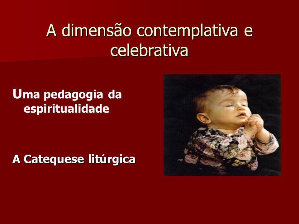 A dimensão contemplativa e celebrativa