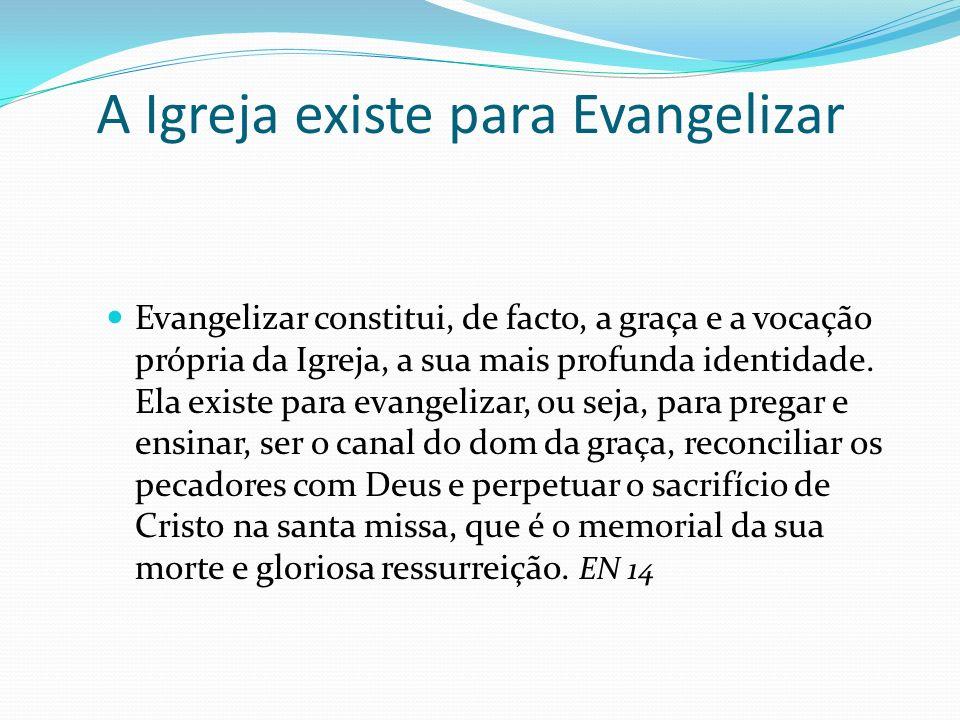 A Igreja existe para Evangelizar