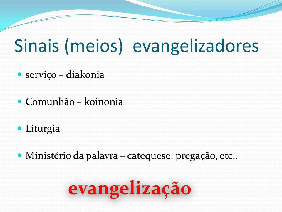 Sinais (meios) evangelizadores