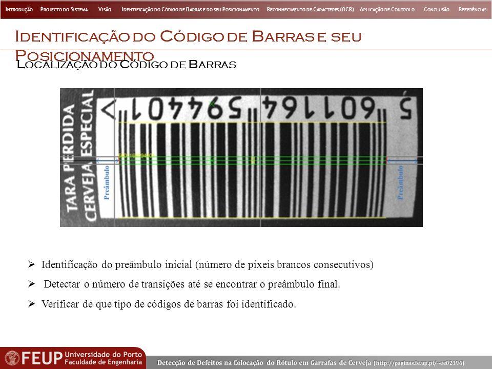 Identificação do Código de Barras e seu Posicionamento