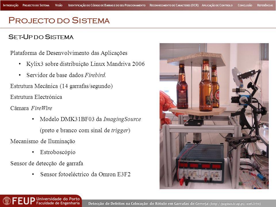 Projecto do Sistema Set-Up do Sistema