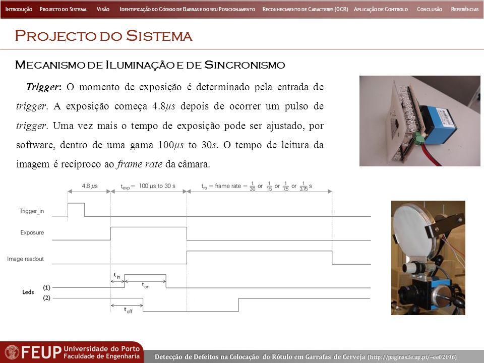 Projecto do Sistema Mecanismo de Iluminação e de Sincronismo