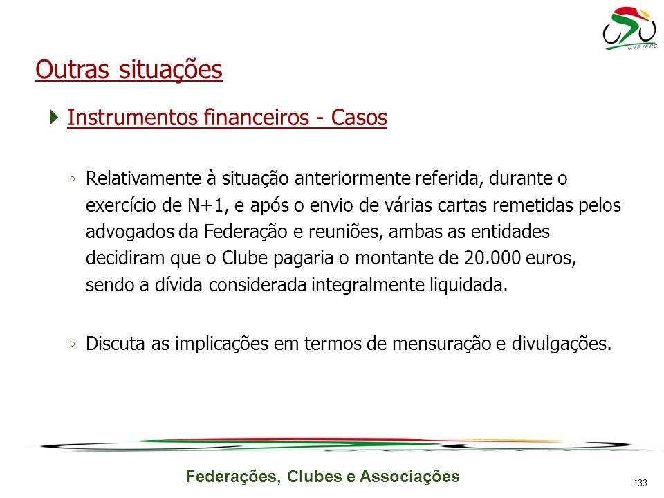 Outras situações Instrumentos financeiros - Casos