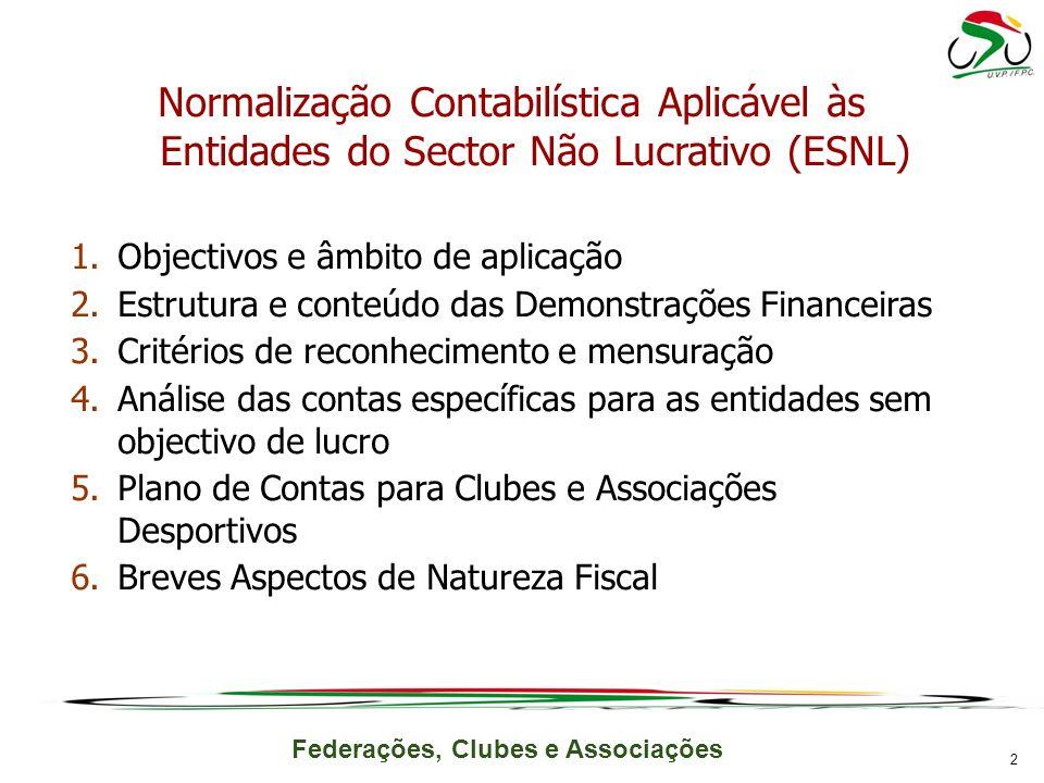 Normalização Contabilística Aplicável às Entidades do Sector Não Lucrativo (ESNL)