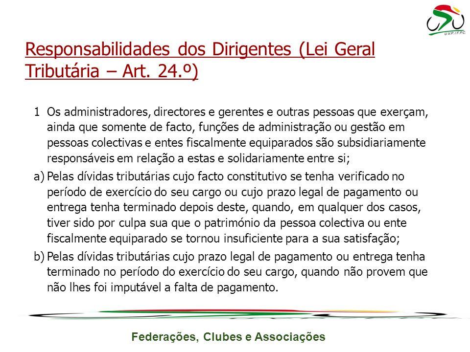 Responsabilidades dos Dirigentes (Lei Geral Tributária – Art. 24.º)