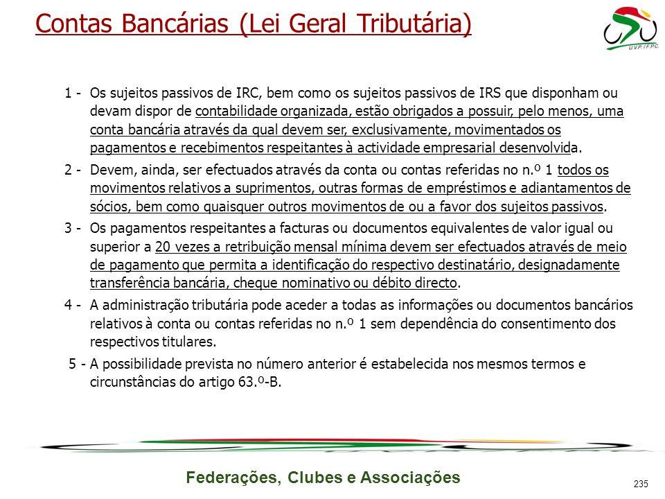 Contas Bancárias (Lei Geral Tributária)