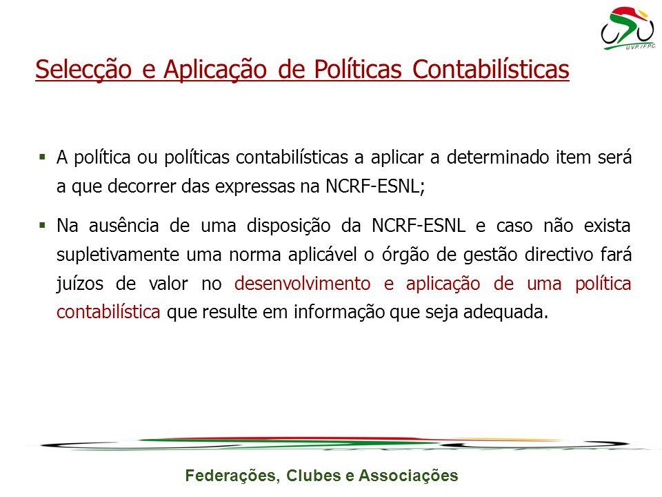 Selecção e Aplicação de Políticas Contabilísticas