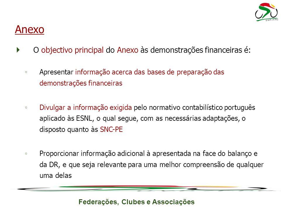 Anexo O objectivo principal do Anexo às demonstrações financeiras é:
