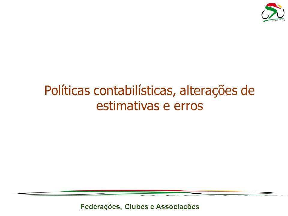 Políticas contabilísticas, alterações de estimativas e erros