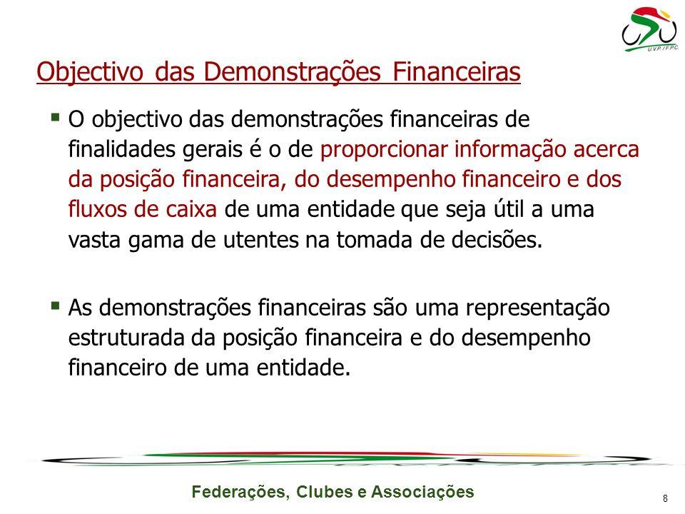 Objectivo das Demonstrações Financeiras